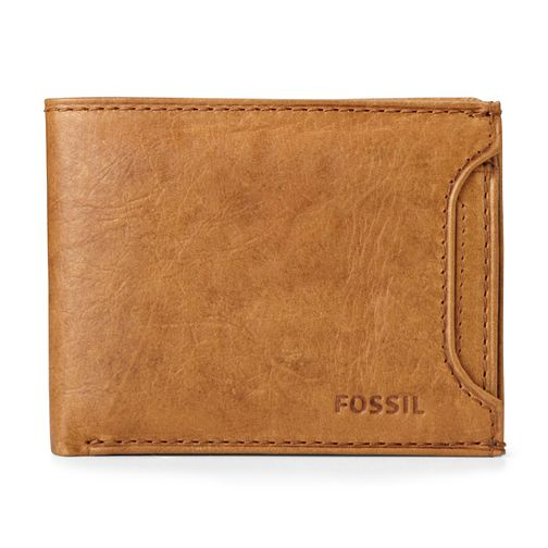 Fossil Cognac Ingram Tan Leather 2 in 1 wallet - Product number 2951193