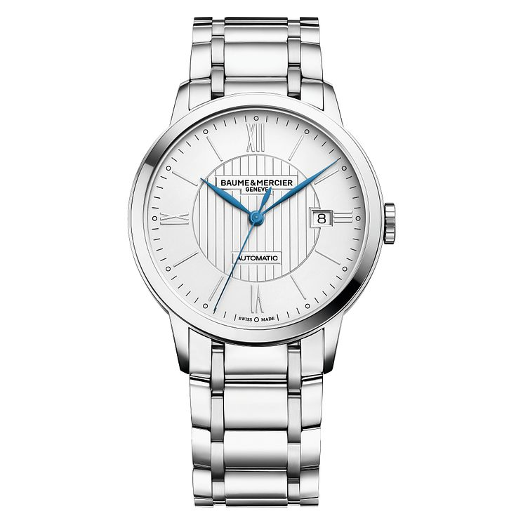 Baume & Mercier Classima men's round silver bracelet watch - Product number 2951312