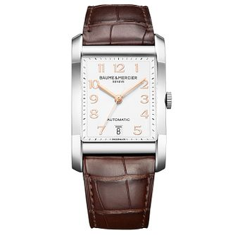 Baume & Mercier Hampton men's rectangle brown strap watch - Product number 2951371