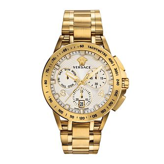 Versace Sport Tech Men's Yellow Gold Tone Bracelet Watch - Product number 2951959