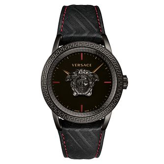 Versace Palazzo Empire Men's IP Black Strap Watch - Product number 2952017