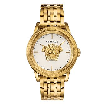Versace Palazzo Empire Men's Gold Plated Bracelet Watch - Product number 2952025