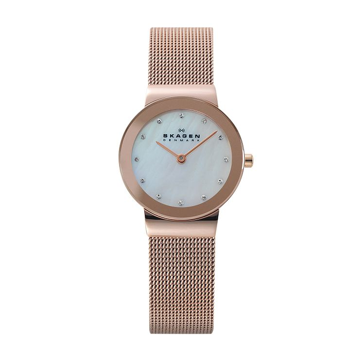 Skagen Freja Ladies' Rose Gold Tone Bracelet Watch - Product number 2959143