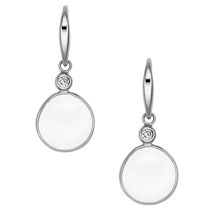 Skagen Sea Glass Stainless Steel Drop Stone Set Earrings - Product number 2959631