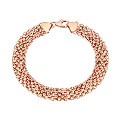 "9ct Rose Gold 7.5"" Mesh Bracelet - Product number 2968207"
