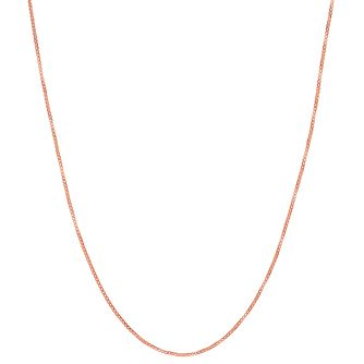 "9ct Rose Gold 18"" Small Box Chain - Product number 2968452"