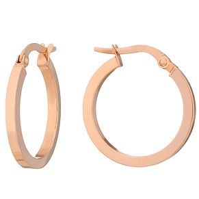 9ct Rose Gold Small Creole Earrings - Product number 2968711
