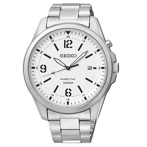 Seiko Men's White Dial & Stainless Steel Bracelet Watch - Product number 2969343