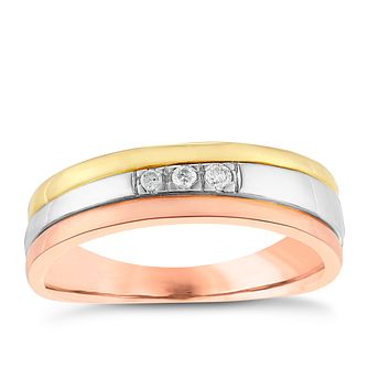 9ct Three Colour Gold Diamond Eternity Ring - Product number 2977036