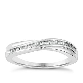 9ct White Gold Baguette Cut Diamond Eternity Ring - Product number 2981491