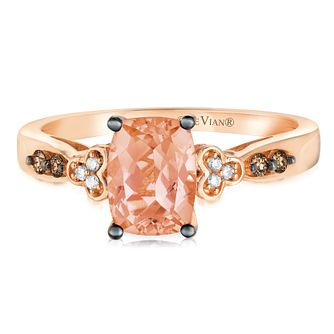 14ct Strawberry Gold™ Peach Morganite™ & Diamond Ring - Product number 2982617