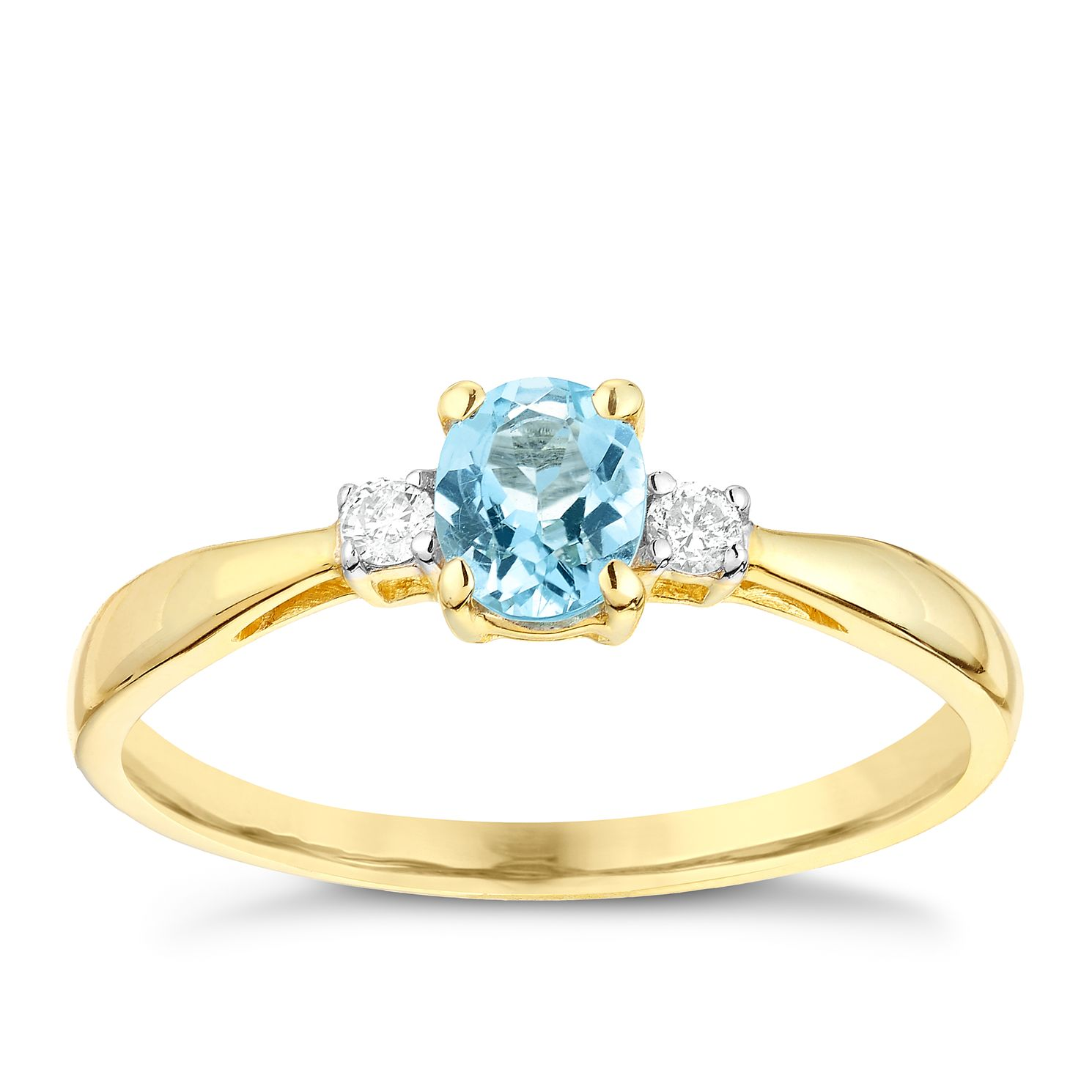 aquamarine natural and ct with w jewellery rose in itm silver diamonds sterling ring gold