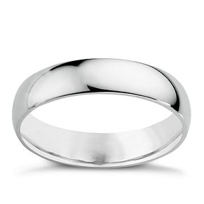 9ct White Gold 5mm Extra Heavy Court Ring - Product number 3020827