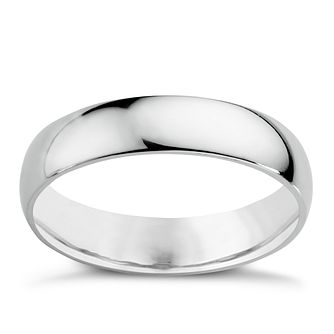 9ct White Gold 5mm Extra Heavy Court Ring   Product Number 3020827