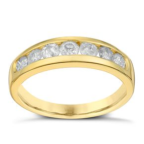 9ct Yellow Gold 3/4 Carat Diamond Eternity Ring - Product number 3024938