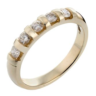 9ct Gold Diamond Ring - Product number 3026981