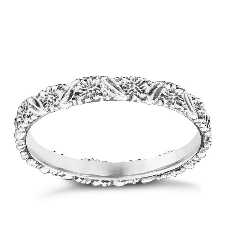 Chamilia Silver Harmony Floral Stacking Ring Medium - Product number 3027031