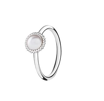 Chamilia Silver Wisdom Swarovski Pearl Stacking Ring Medium - Product number 3029522