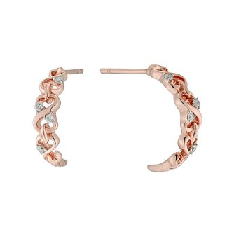 Open Hearts By Jane Seymour 9ct  Rose Gold Diamond Earrings - Product number 3029530