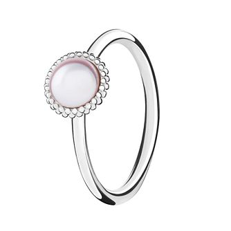 Chamilia Silver Wisdom Swarovski Pearl Stacking Ring Small - Product number 3029670