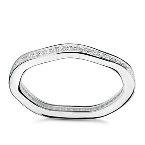 Chamilia Swarovski Zirconia Tranquillity Stacking Ring Med - Product number 3029859
