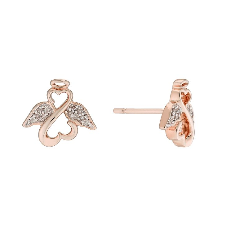 Open Hearts Angels By Jane Seymour Gold & Diamond Earrings - Product number 3029883