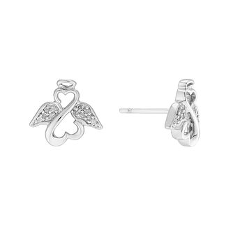 Open Hearts Angels By Jane Seymour Gold & Diamond Earrings - Product number 3030105