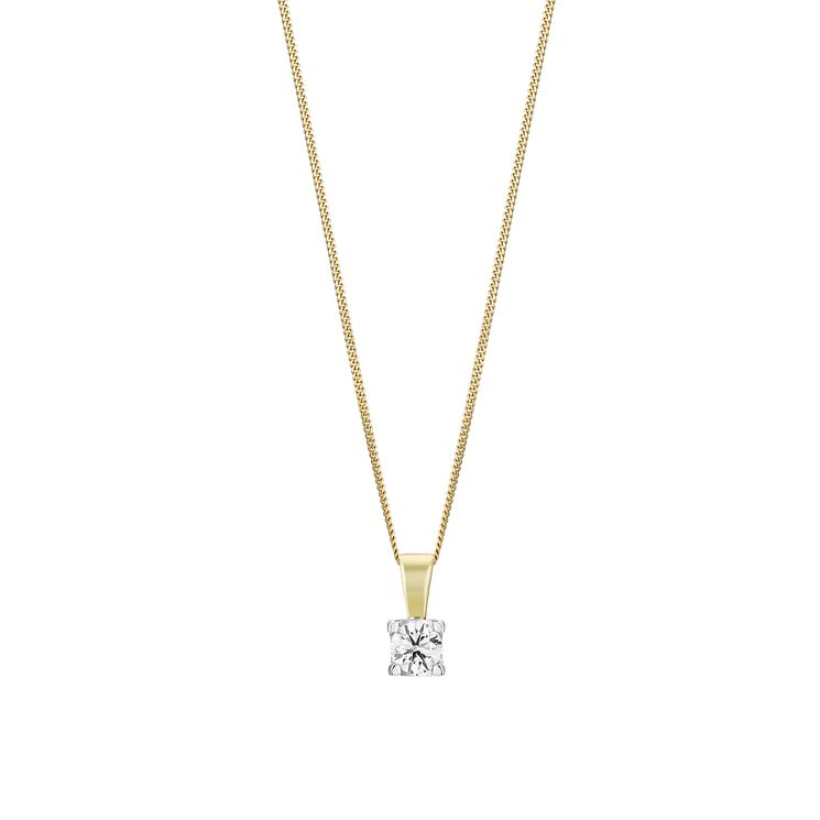 18ct Gold 2/5 Carat Forever Diamond Pendant - Product number 3030318
