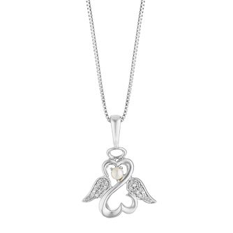 Open Hearts Angels By Jane Seymour Diamond & Pearl Pendant - Product number 3030393