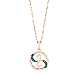 Open Hearts Waves By Jane Seymour Rose Gold Diamond Pendant - Product number 3030474