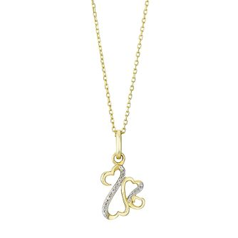 Open Hearts Family By Jane Seymour Gold & Diamond Pendant - Product number 3030598