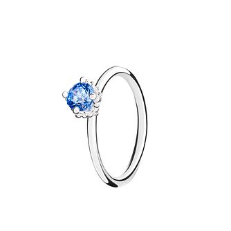 Chamilia Diva Solitaire blue zirconia ring small - Product number 3030911