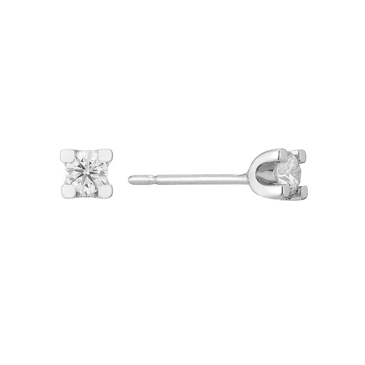 18ct White Gold 1/4 Forever Diamond Earrings - Product number 3031926