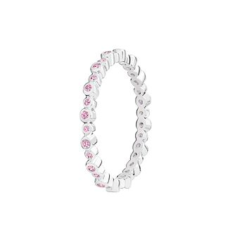 Chamilia Infinity pink Swarovski zirconia ring medium - Product number 3032485