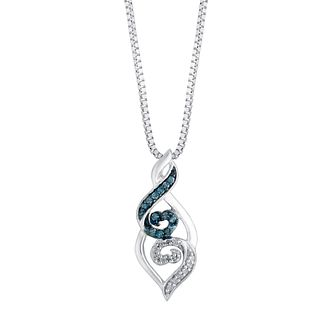 Open Hearts Waves By Jane Seymour Blue Diamond Pendant - Product number 3052567