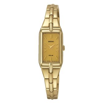 Seiko Conceptual Solar Ladies' Gold-Plated Bracelet Watch - Product number 3053482