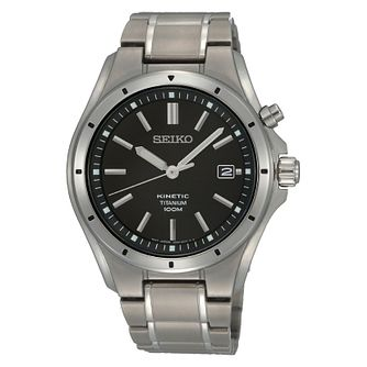Seiko Conceptual Kinetic Men's Titanium Bracelet Watch - Product number 3053490