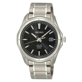 Seiko Conceptual Men's Titanium Solar Powered Bracelet Watch - Product number 3053555