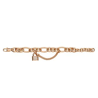 Dyrberg Kern Carol Rose Gold-Plated Padlock Bracelet - Product number 3055167