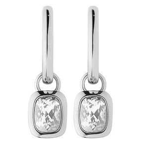 Dyrberg Kern Tiana Sterling Silver Hoop Drop Earrings - Product number 3055183
