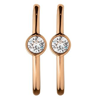 Dyrberg Kern Gritt Stone Set Rose Gold-Plated Hoop Earrings - Product number 3055205