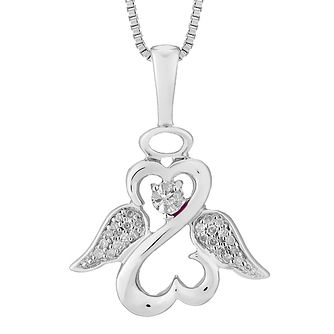 Open Hearts Angels By Jane Seymour Diamond Angel Pendant - Product number 3055507