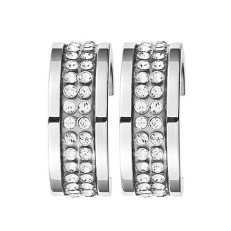 Dyrberg Kern Kimmie Silver Plated Crystal Earrings - Product number 3055531