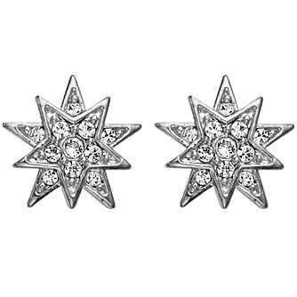 Dyrberg Kern Electra Silver Plated Crystal Star Earrings - Product number 3055566