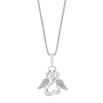 Open Hearts Angels By Jane Seymour Diamond & Opal Pendant - Product number 3055574