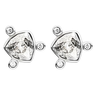 Dyrberg Kern Estelia Silver Plated Crystal Stud Earrings - Product number 3055582