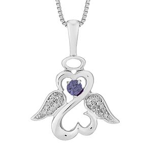 Open Hearts Angels Jane Seymour Diamond & Tanzanite Pendant - Product number 3055647