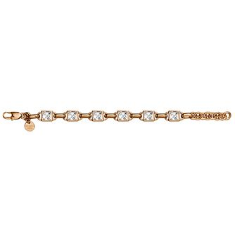 Dyrberg Kern Elys Rose Gold Plated Square Crystal Bracelet - Product number 3055655