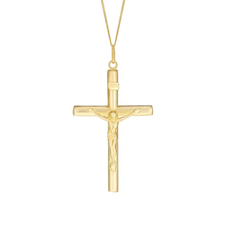 "9ct Yellow Gold 20"" Large Crucifix Pendant - Product number 3057623"