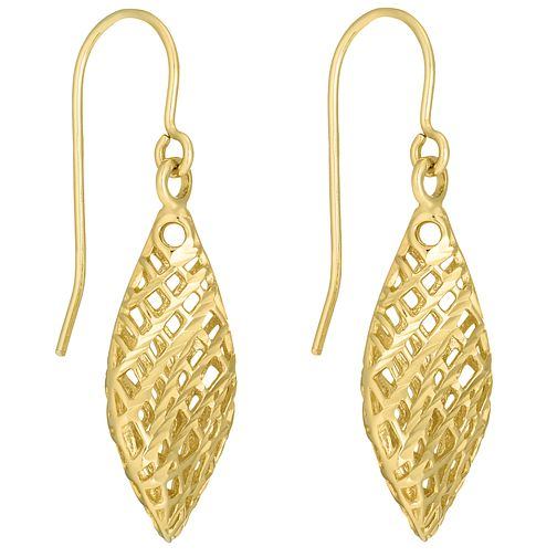9ct yellow gold cutout drop earrings - Product number 3061701